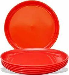 MEHUL 6 Pcs Melamine Full Plate - Red (6 Plate Set)