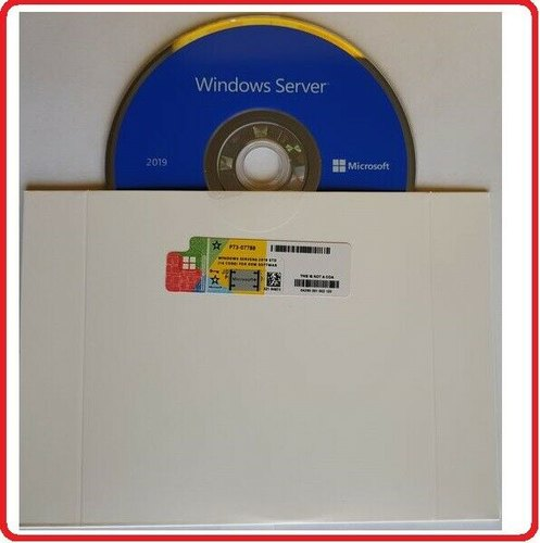 Microsoft Windows Server 2019 Standard 64 Bit DVD/COA 2cpu 16cores 2vm Pack