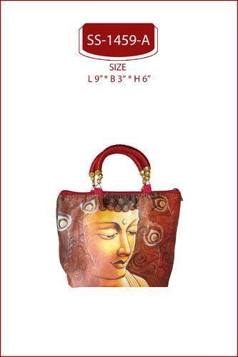 Red Purple Digital Printed Digital Print Hand Bags Id