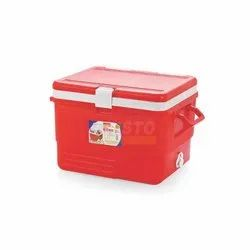 Red 25 Liter Insulated Ice Box