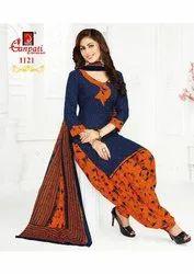 Regular Wear Ganpati Cotton Dress Material