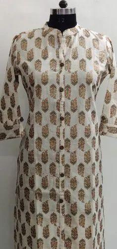 Printed Bagru Style Cotton Kurti