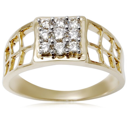Broad Diamond Gold Band And Rings