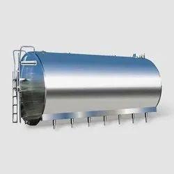 Horizontal SS Milk Cooling Tank