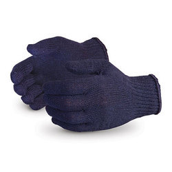 40 Gram Blue Cotton Knitted Hand Gloves