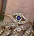 Sapphire and Diamond Evil Eye Gold Ring