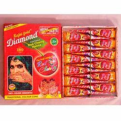 Diamond Red Henna Mehandi Cone, Pack Size: 10 gm