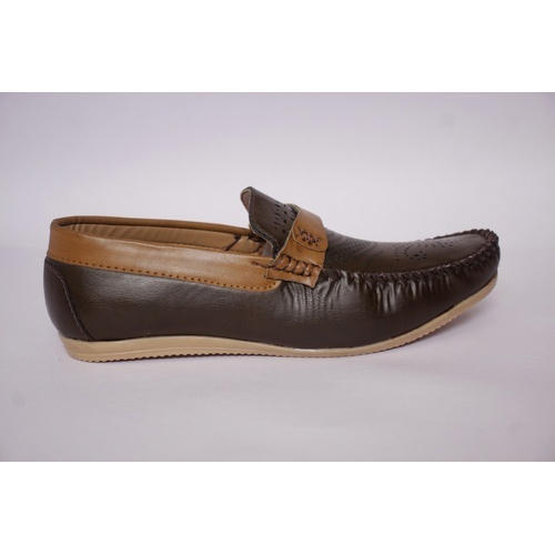 dd23ce19956 Brown Leather Men Stylish Loafers Shoes