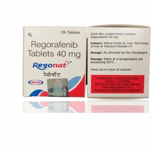 Regonat 40mg - 28 Tablets ( Regorafenib Tablets 40mg - Natco Pharma Ltd)
