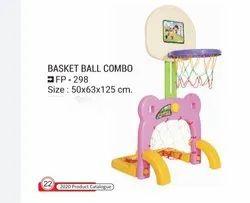 Playground Equipment Unbreakable Plastic Kids Basket Ball Football Activity Toy