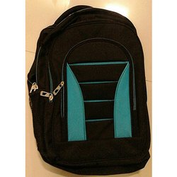 Plain Waterproof Zipper College Bag