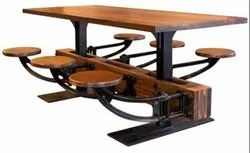 DIF-1432 Six Seater Industrial Dining Table