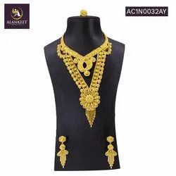 Designer Long Gold Plated Jewelry For Women