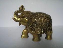 Brass Elephant Vintage Antique Statue
