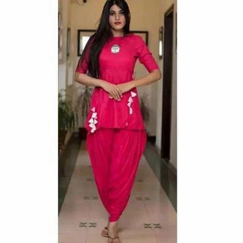 7ce465630c Chiffon Plain Kurtis With Patiala Salwar, Rs 645 /pack, Vastra Gram ...