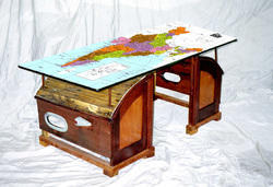 Wood Table Top Printing Service