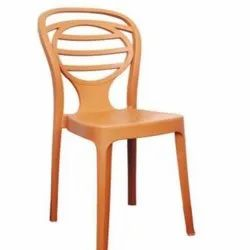 Without Hand Rest (Without Arms) Supreme Oak Plastic Chair, Size: 850x 425 X 540 Mm