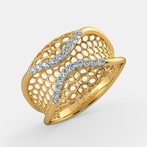 Designer Gold Ring Gold & Gold Jewellery