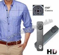 IMPORTED Black SPY BUTTON CAMERA 32GB, For Security, Battery Capacity: 2-3 Hours