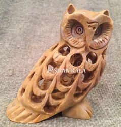 Undercut Owl Statue