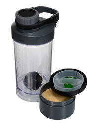 Dynamize 3 In 1 Gym Shaker Bottle 500 Ml
