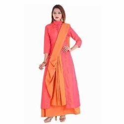 Cotton Western Wear Ladies Party Wear Indo Western Dress