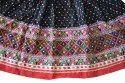 Black Bandhej Cotton Lehenga Choli - Navratri Special