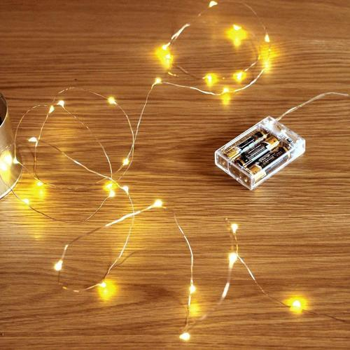 Battery Ed 10 M 100 Led Copper Wire Light String
