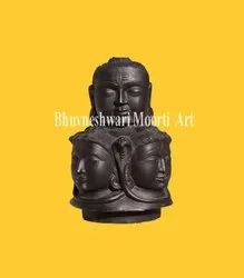 Black Marble Shivling with Panchmukhi