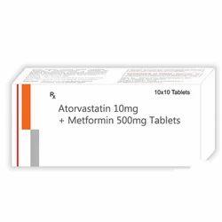 Atorvastatin Metformin Tablets, Packaging Type: Blister
