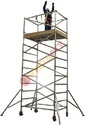 Silver Aluminum Access Tower