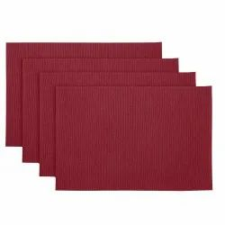 Solid Wine Color Kitchen & Dining Table Ribbed Place Mat