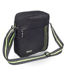 Black Polyester Sling Bag For Men
