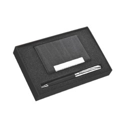 Plata Card Holder and Pen Gift Set
