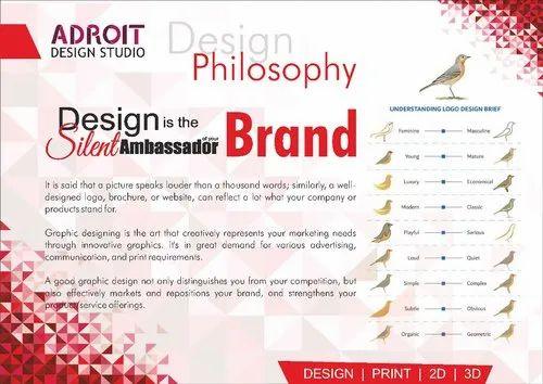 Brochure 2d Freelance Graphic Designing Service Id