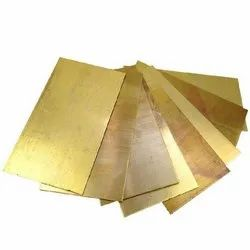 Polished Brass Sheet, For Hardware Fitting, Size: 14 X 48 Inch