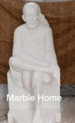 White Sai Baba Marble Statue