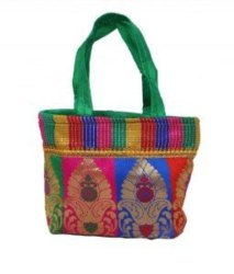 Pink Green Purple Red Cotton Pooja Bags