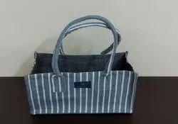 Rope with cotton cover Fancy bag for home, Size/Dimension: 25x13x17cm