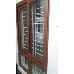 Golden Oak Sliding Window