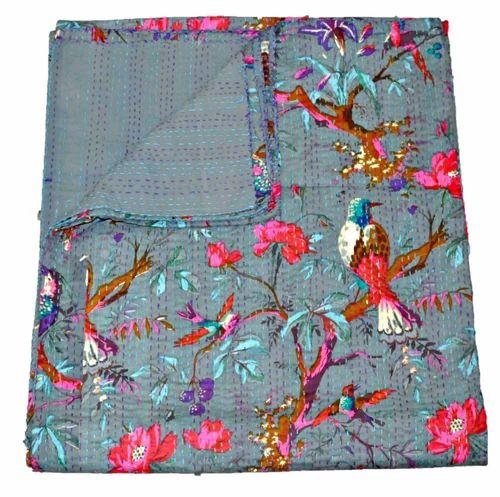 Kantha Blanket Bedspread Bed Cover Bedding Twin Kantha Quilt Kantha Quilt
