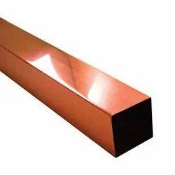 Copper Rectangular Tube, Grade: ASTM B 42 C 12200