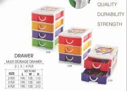 Plastic Multi Storage Drawer for Home