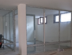 UPVC Glass Partition, Shape: Rectangular