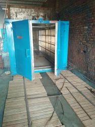 Manual Steel E-Rickshaw Powder Coating Machine, Model: batch type, Capacity: 100-500 Kg