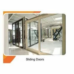 Partition Doors Pristine White Toughened Glass UPVC Sliding Door, For Home,Hotel And Office