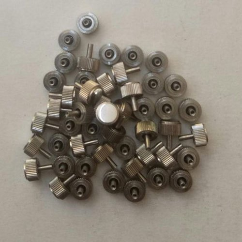Silver Steel Watch Crown