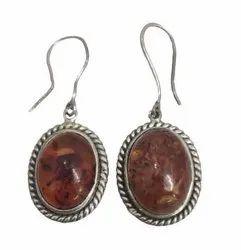 Baltic Honey Amber 925 Sterling Silver Drop Earrings Ladies Girls For Amber Jewellery Lovers