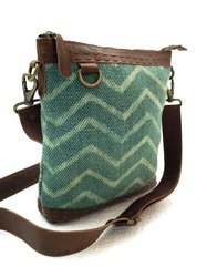 Canvas Leather Boho Sling Bag