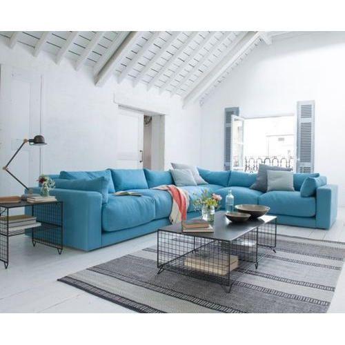 L Shape Sky Blue Sofa Set